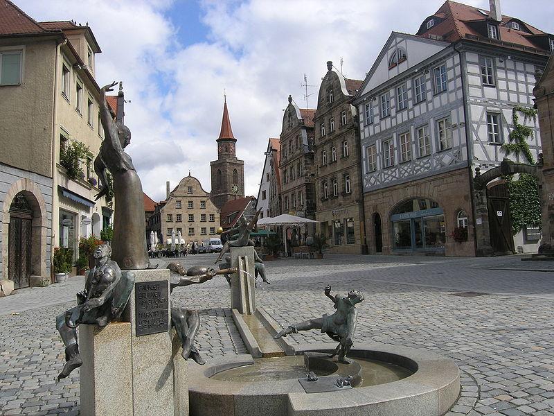 Gauklerbrunnen in Fürth